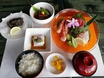 【夕食プラン】お刺身三点盛り合わせ定食
