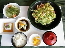 【夕食プラン】ちゃんぷるー定食