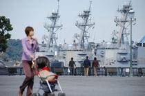 日本とアメリカの軍港
