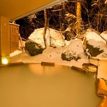 ■大自然の湯「鳥の声」 露天風呂(冬)