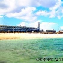 イーフビーチからのホテル外観