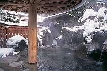 長作の湯・雪景色