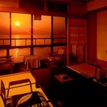 【部屋】夕日の見える和室