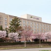 ホテル外観 【桜の季節】