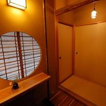 本館『庵』お部屋の玄関 一例
