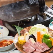 [夕食]豊後牛鍬焼きコース