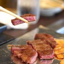 【夕食・鉄板焼き】