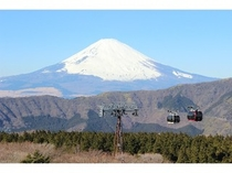 絶景 冬の富士