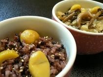 くり+キノコご飯
