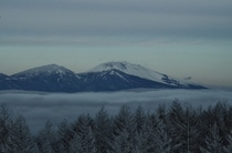 車山高原スキー場から浅間山を望んで