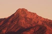 阿弥陀岳の夕景