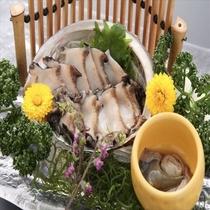 活あわびのお刺身(一品料理3000円税別)