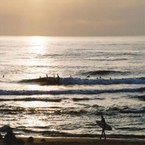 サーフィン発祥の地でもある「湯野浜海岸」