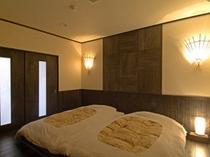 露天風呂付客室【宵待】 寝室-2