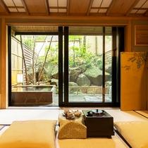 【木心亭-石造り露天風呂付客室-】