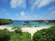 【周辺:中の島海岸】下地島の西側に有る人気のシュノーケルポイント