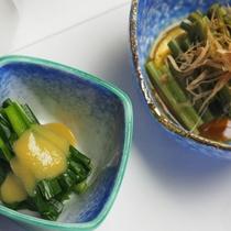 夜間瀬の季節の旬菜(ご宴会お料理一例)