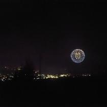 【花火】当館から中野えびす講(中野市)の花火をご覧いただけます☆(11月12日)