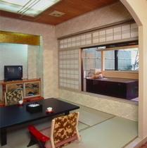木の館 露天風呂付き客室(一例)