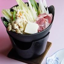 *一人鍋/お肉とたっぷりのお野菜を煮込んだお鍋。心も体もぽかぽかに。