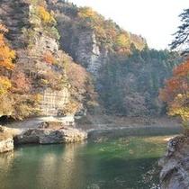 秋 塔のへつり 渓谷の紅葉が素晴らしい♪