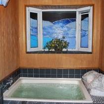 内風呂 幻想的な光と音での癒しを体感頂けます。
