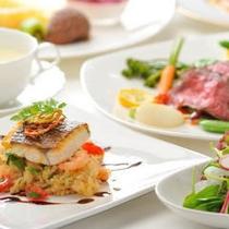 夕食一例 イタリアンコース料理