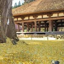 蔵の街 喜多方 秋の長床