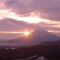 【〜 羊岳百景 〜 凛とした冬の朝日】