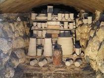 古式復元穴窯(登り窯)窯入れ