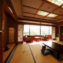 【東館和室10帖】部屋から富士山が見える和室