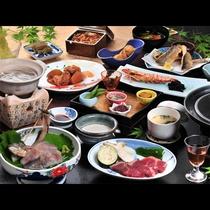 信州牛ステーキ付★グレードアップご夕食「松コース」の一例です