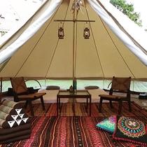 グランピング…ホテルで手ぶらで快適・贅沢キャンプ!