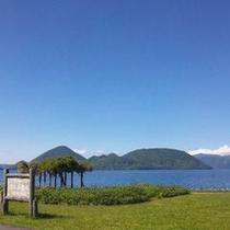 夏の洞爺湖~中島を望む~