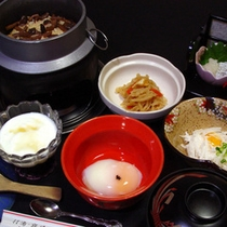 「釜飯」でお出しする朝食のイメージです。