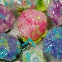紫陽花色のお菓子