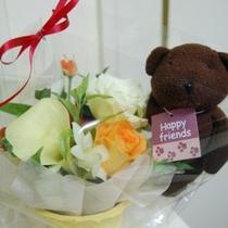 花かご&テディベア