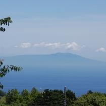 海側のお部屋からの眺め・大島の浮かぶ相模湾