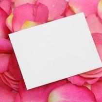 サプライズのメッセージカード
