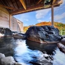 【温泉露天風呂】毎分140リットル!源泉かけ流しの温泉露天風呂