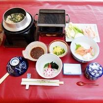 *【夕食全体例/釜飯】旨みたっぷりのダシが決め手!釜飯のメイン具材はお選びいただけます。