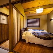 【別邸 野蒜】露天風呂付き離れ和洋室 寝室