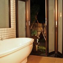 ■月詠・万葉<露天風呂付和洋室>/半露天風呂