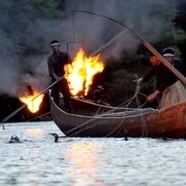 *7/1〜9/15まで開催される、嵐山の夏の風物詩【鵜飼】。嵐山の夜景と伝統漁法をお楽しみ下さい。