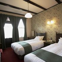 【客室/スタンダードツイン】クラシカルなデザインで統一されたお洒落なお部屋