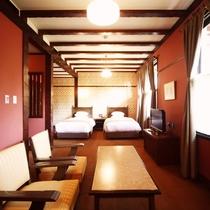 【客室/スーペリアツイン】異国の息吹とシックな空間が生み出すモダンな客室