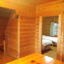 *【ログハウス海望亭室内】木のぬくもりが心地よいログハウスです。