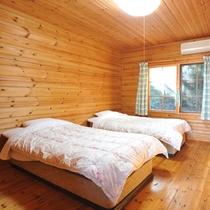 *【ログハウス海望亭】客室のベッドルーム
