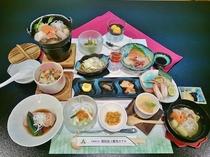 利尻島の旬の食材を使用した恵み御膳(イメージ)