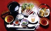 鴨すき御膳(夕食例)